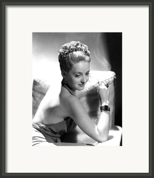 Bette Davis Framed Print By Everett