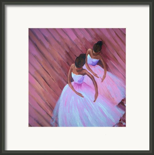 Black Ballet Framed Print By Janie Mcgee