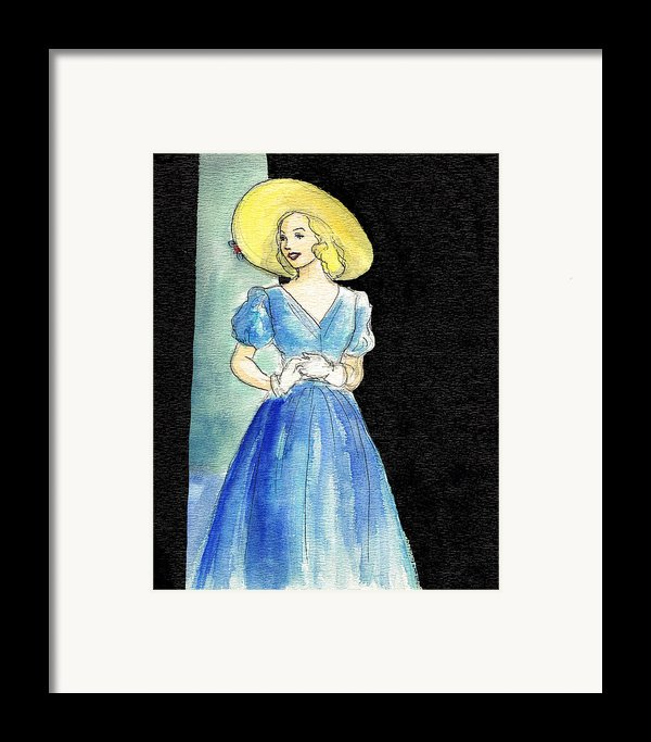 Blue Gown Framed Print By Mel Thompson