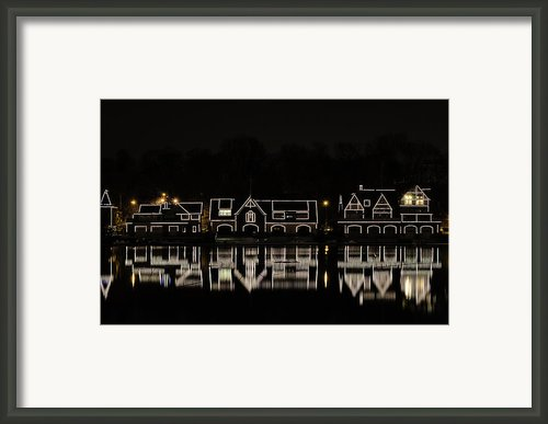 Boathouse Row - Philadelphia Framed Print By Brendan Reals
