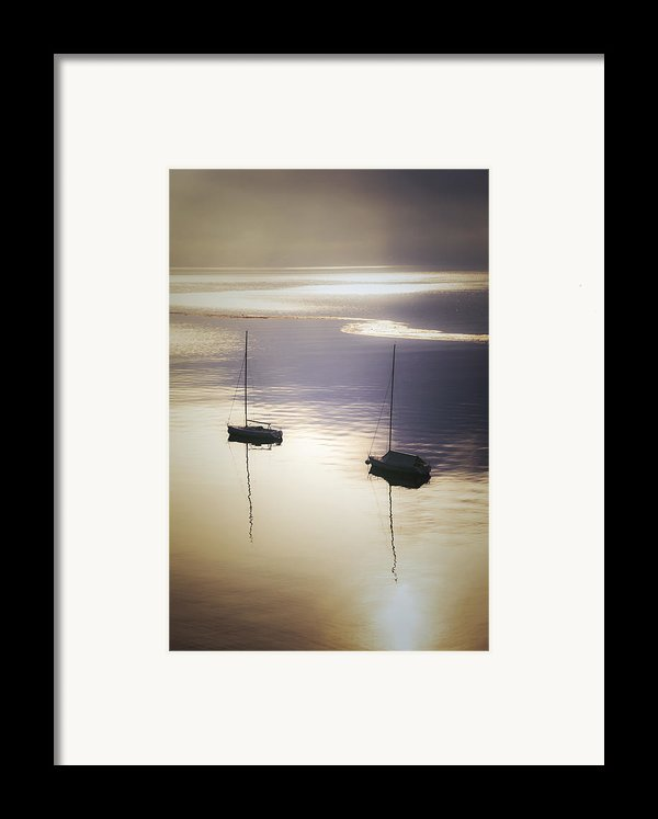 Boats In Mist Framed Print By Joana Kruse
