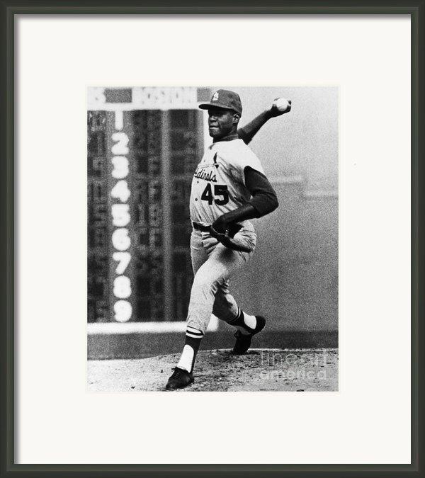 Bob Gibson (1935- ) Framed Print By Granger