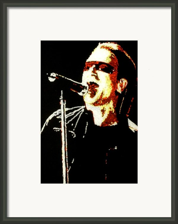 Bono Framed Print By Grant Van Driest