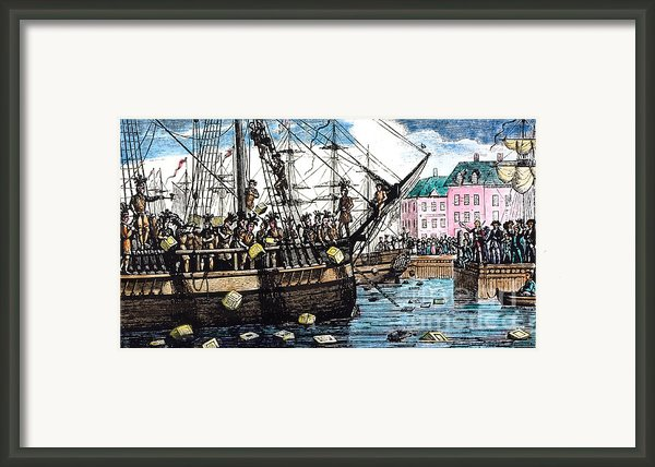 Boston Tea Party, 1773 Framed Print By Granger