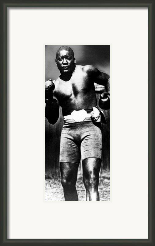 Boxer Jack Johnson, Ca. 1910s Framed Print By Everett