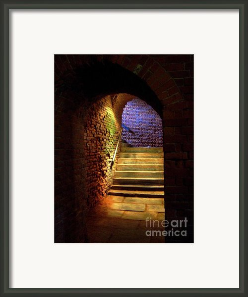 Brick Tunnel Framed Print By Sarah Holenstein