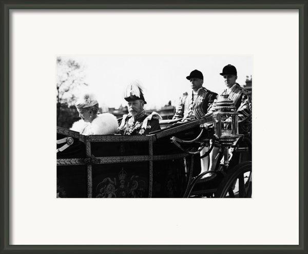 British Royal Family. In Coach British Framed Print By Everett