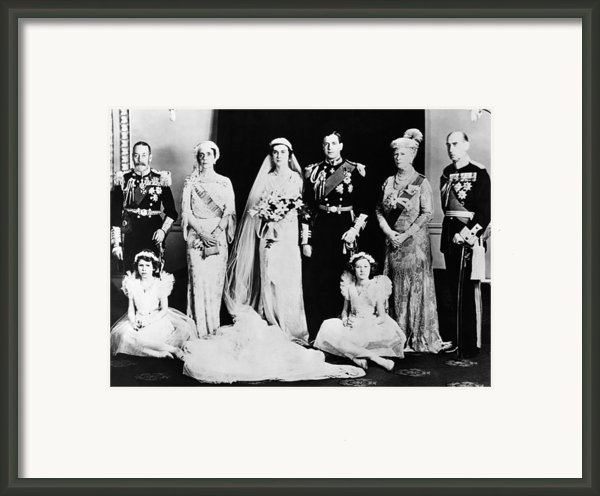 British Royal Family. Seated, From Left Framed Print By Everett