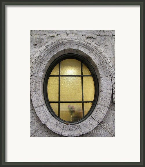 Bryant Park Window Framed Print By Gary Slawsky
