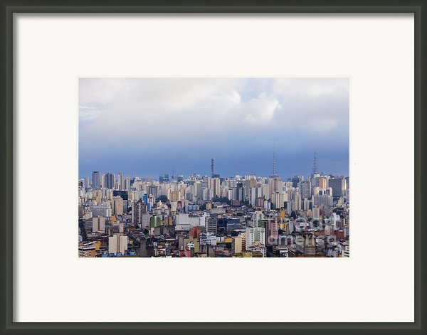 Buildings Of Downtown Sao Paulo Framed Print By Jeremy Woodhouse
