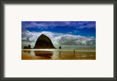 Cannon Beach At Dusk Framed Print By David Patterson
