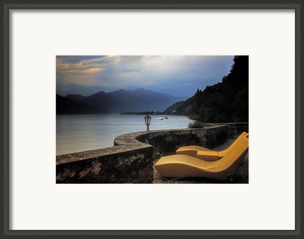 Canvas Chairs Framed Print By Joana Kruse