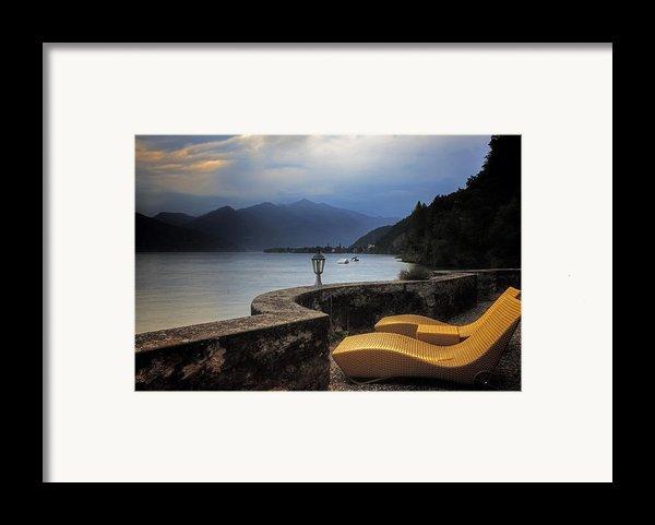 Canvas Chairs Framed Print By Joana Kruse