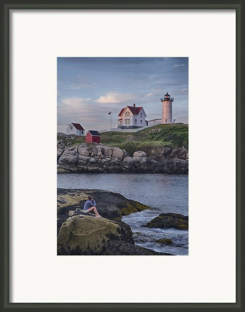 Cape Neddick Lighthouse Framed Print By David Desrochers