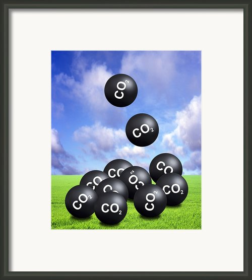 Carbon Dioxide And Climate Change Framed Print By Victor De Schwanberg
