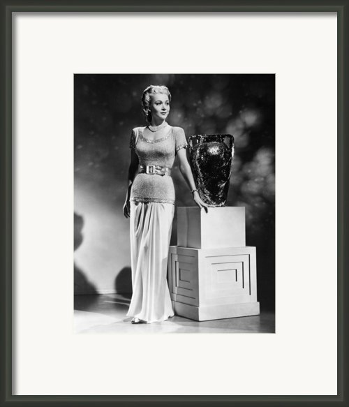 Carole Landis, Ca. 1941 Framed Print By Everett