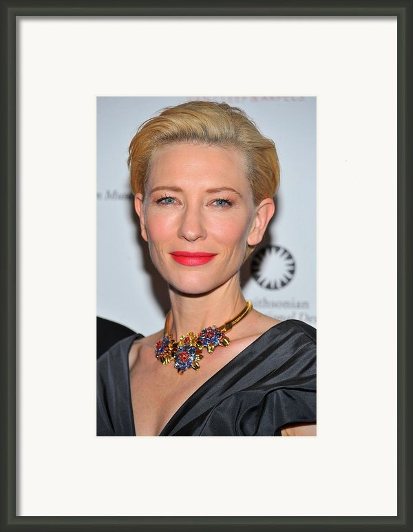 Cate Blanchett Wearing A Van Cleef & Framed Print By Everett
