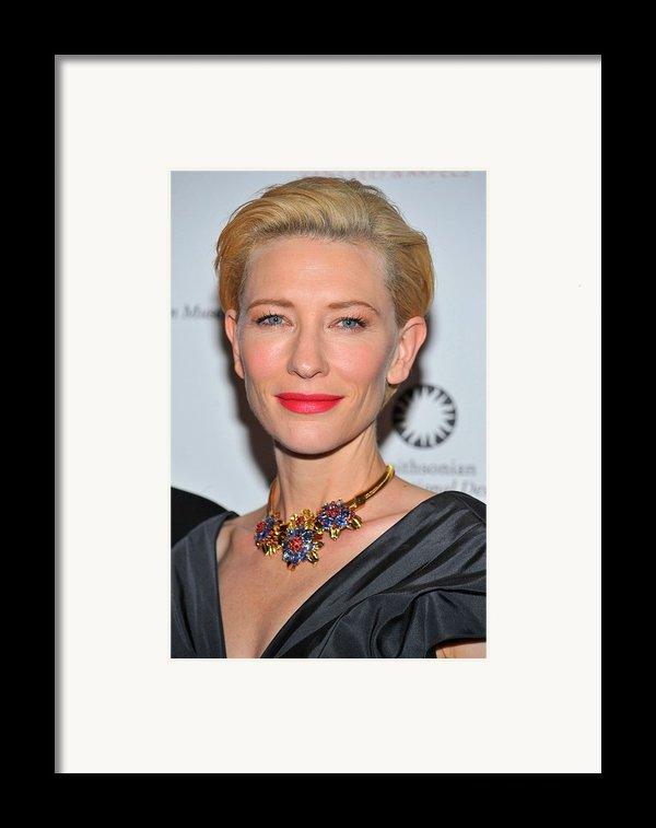 Cate Blanchett Wearing A Van Cleef & Framed Print By Everett