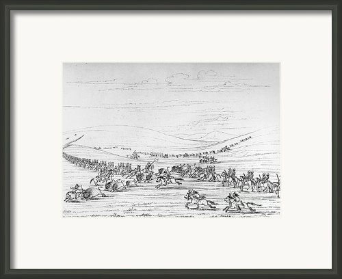 Catlin: Buffalo Hunt Framed Print By Granger