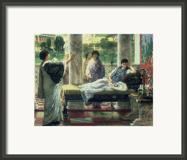 Catullus Reading His Poems Framed Print By Sir Lawrence Alma-tadema