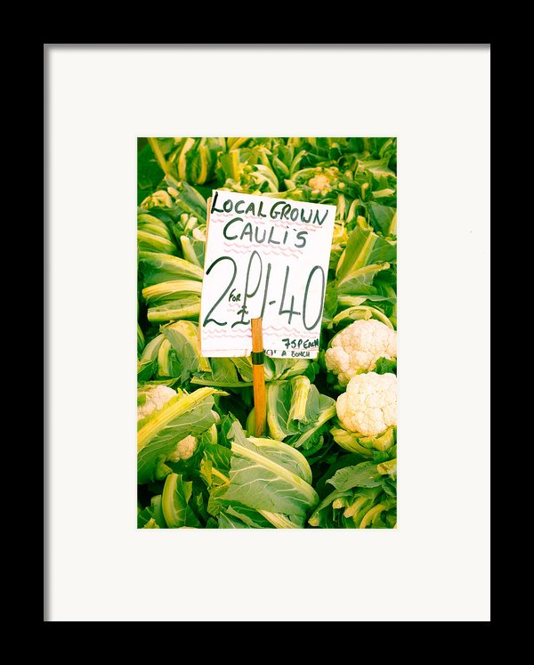 Cauliflower Framed Print By Tom Gowanlock