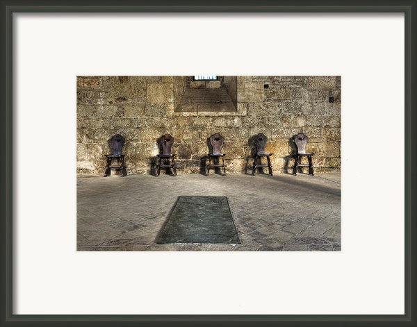 Chairs Framed Print By Joana Kruse