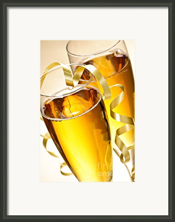 Champagne Glasses Framed Print By Elena Elisseeva