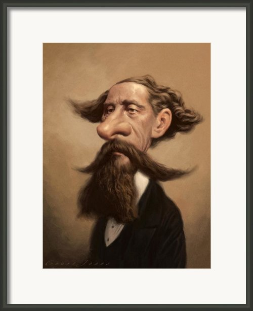 Charles Dickens Framed Print By Court Jones