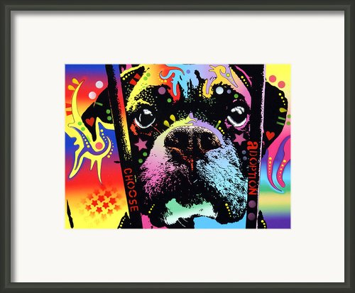 Choose Adoption Boxer Framed Print By Dean Russo