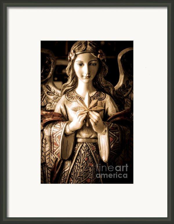 Christmas Angel Framed Print By Julie Palencia