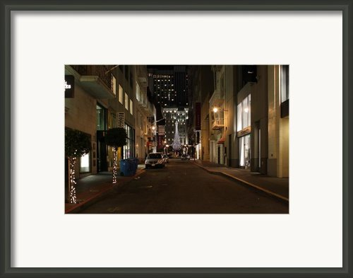 Christmas Eve 2009 On Maiden Lane In San Francisco Framed Print By Wingsdomain Art And Photography