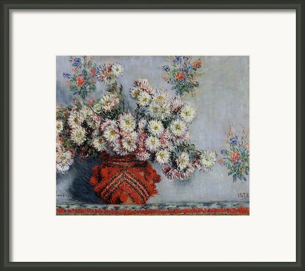 Chrysanthemums Framed Print By Claude Monet