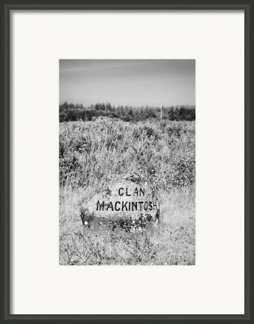 Clan Mackintosh Memorial Stone On Culloden Moor Battlefield Site Highlands Scotland Framed Print By Joe Fox