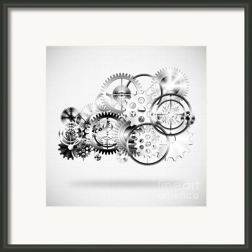 Cloud Made By Gears Wheels  Framed Print By Setsiri Silapasuwanchai