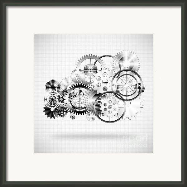 Cloud Made By Gears Wheels  Framed Print By Setsiri Silapasuwanchai