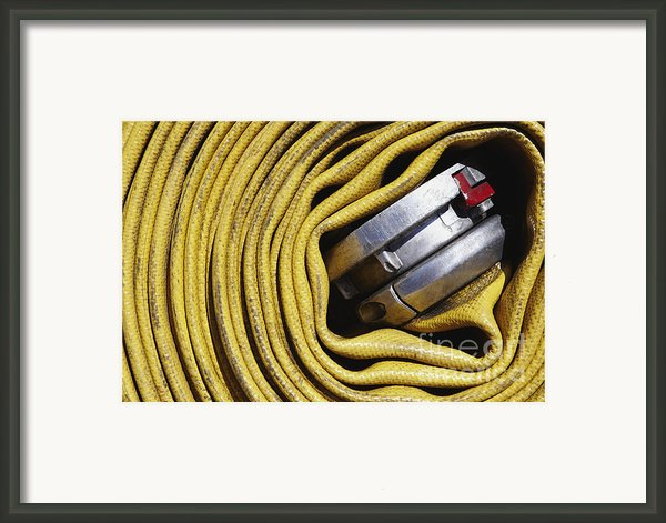 Coiled Fire Hose Framed Print By Skip Nall