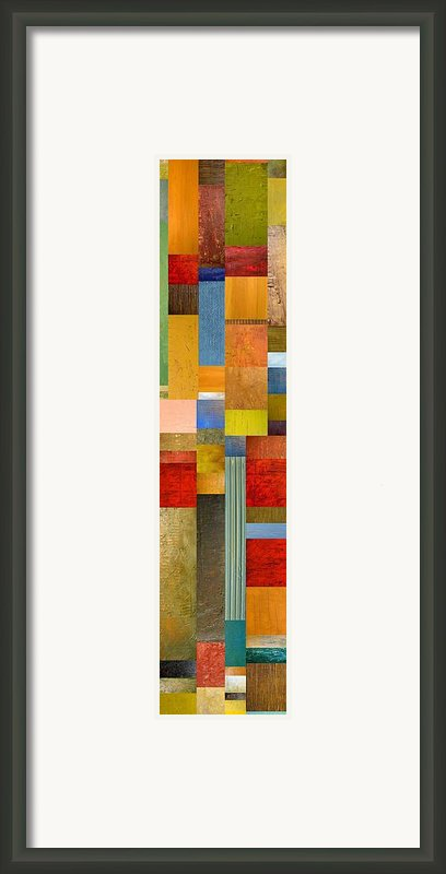 Color Panels With Green Grass Framed Print By Michelle Calkins