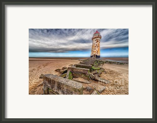 Crooked Lighthouse  Framed Print By Adrian Evans