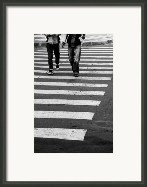 Crossing Framed Print By Gabriela Insuratelu
