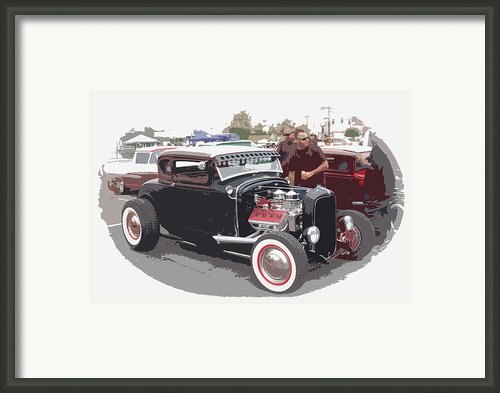 Custom Ford Coupe Framed Print By Steve Mckinzie