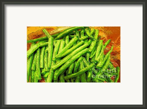 Cut Green Beans Framed Print By Ron Bissett