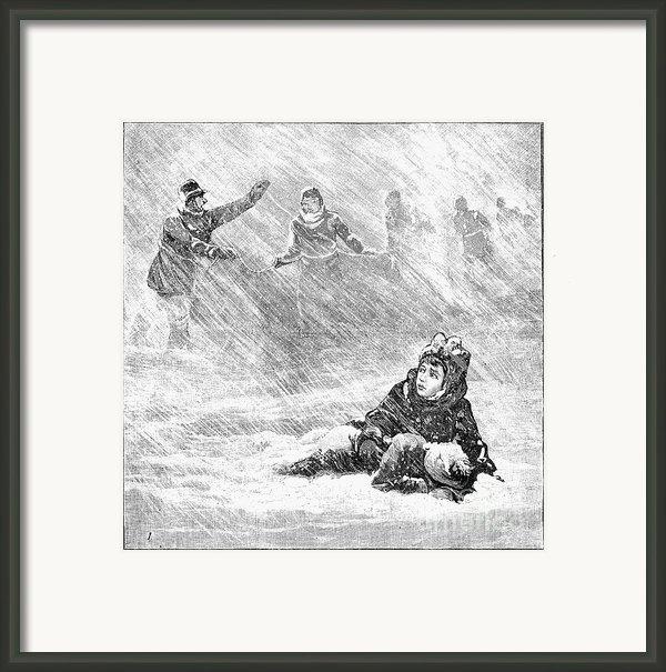 Dakota Blizzard, 1888 Framed Print By Granger