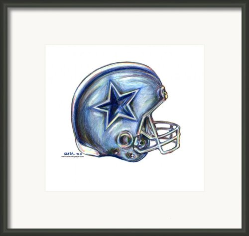 Dallas Cowboys Helmet Framed Print By James Sayer