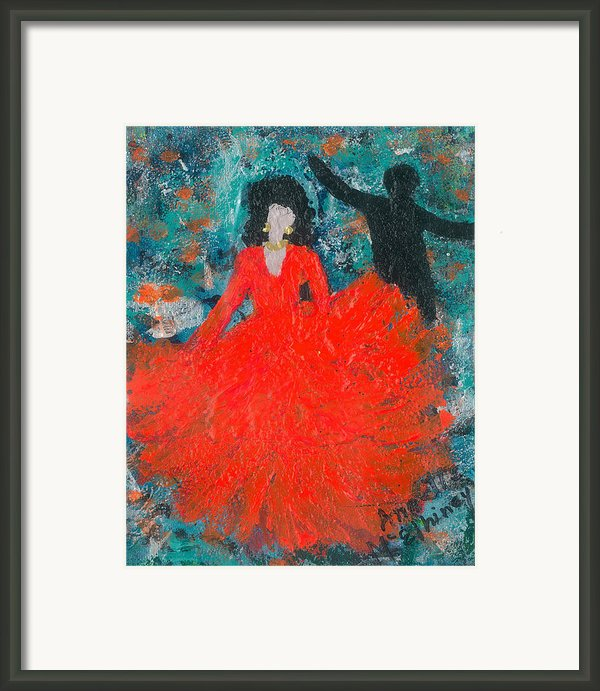 Dancing Joyfully With Or Without Ned Framed Print By Annette Mcelhiney