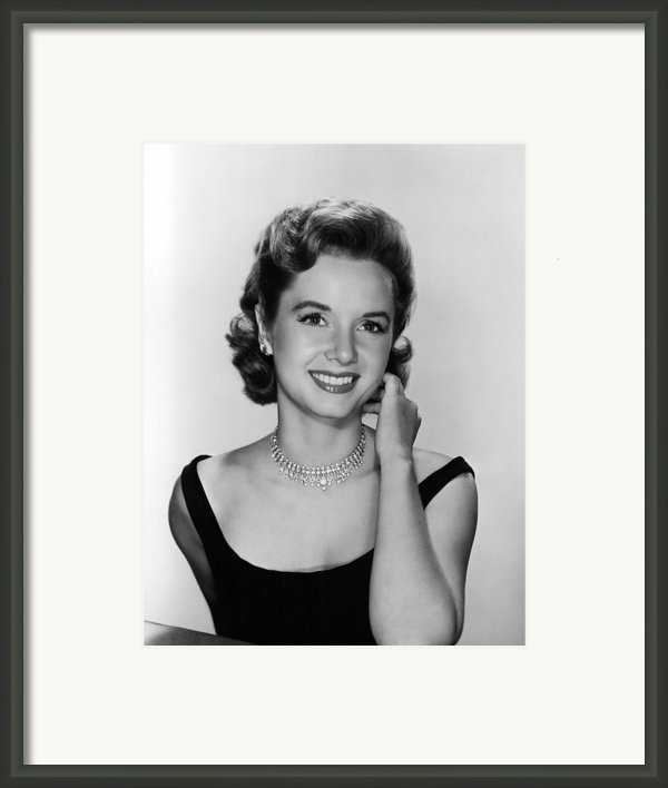 Debbie Reynolds, 1956 Framed Print By Everett