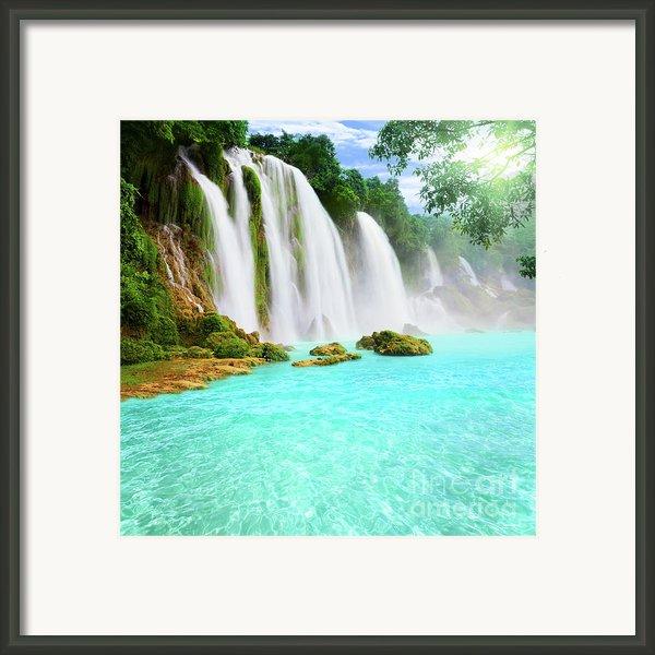Detian Waterfall Framed Print By Mothaibaphoto Prints