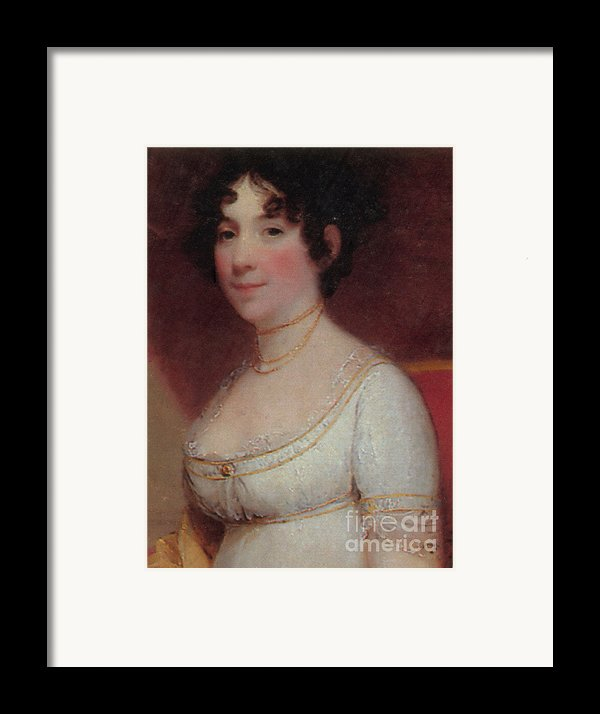 Dolley Madison Framed Print By Photo Researchers