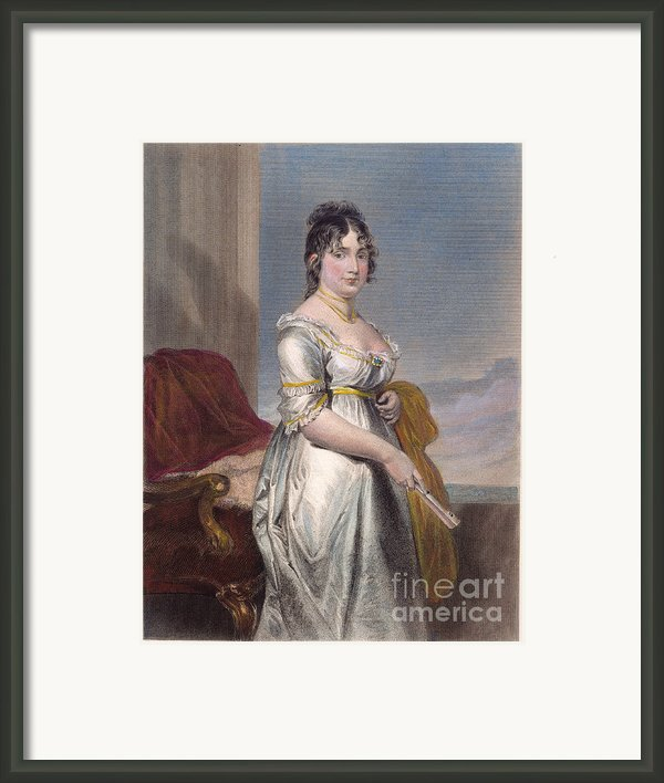 Dolley Payne Todd Madison Framed Print By Granger
