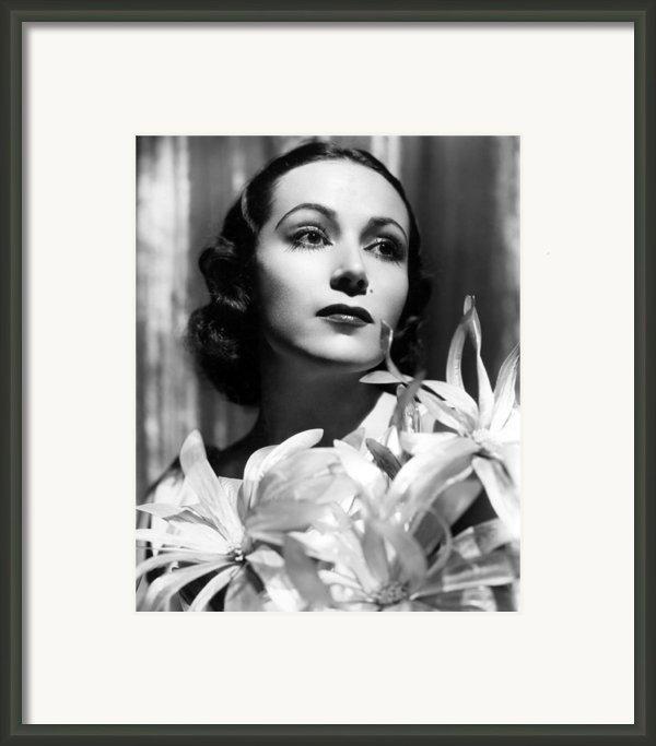 Dolores Del Rio, Portrait Ca. 1934 Framed Print By Everett