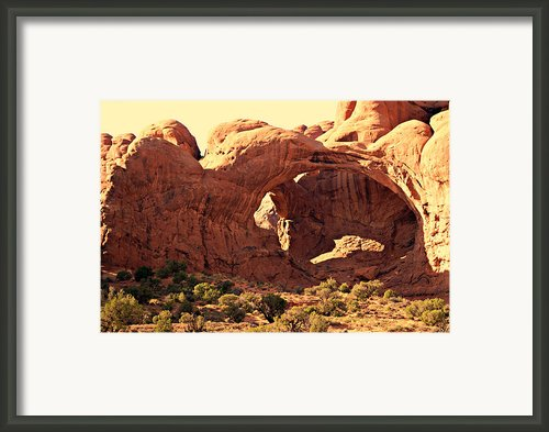 Double Arch Framed Print By Marty Koch